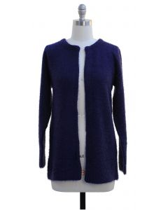 Solid Sweater Coat - Navy