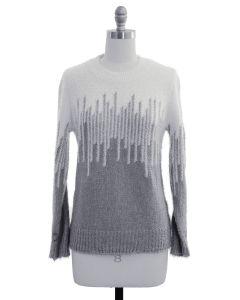 Colorblock Eyelash Sweater - Gray