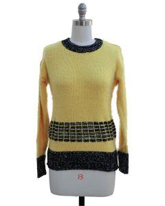 Eyelash Sweater - Yellow