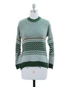 Chevron Sweater - Green
