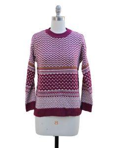 Chevron Sweater - Burgundy