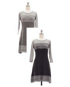 Fine Gauge Stripe Sweater Dress - 24 pcs