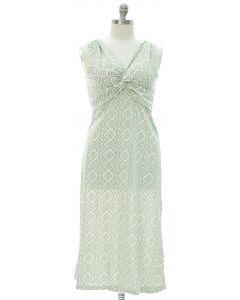 Plus Aztec Knot Front Maxi Dress - Olive