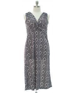 Plus Aztec Knot Front Maxi Dress - Black
