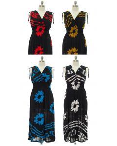Plus Floral Double V Surplice Maxi Dress - Assorted