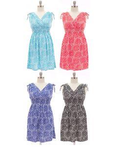 Plus. Shoulder Ties Dress - Asst