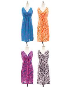 Paisley Surplice Dress - Asst