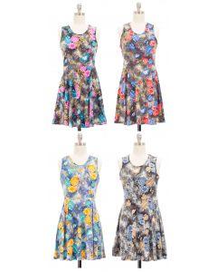 Floral Skater Dress - Asst