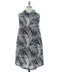 Cowl Neck Hacci Midi Dress - Black