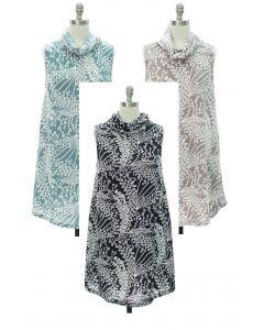 Cowl Neck Hacci Midi Dress - Assorted