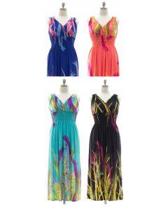Plus Size Surplice Maxi Dress with Cinch - Asst