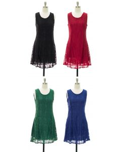 Lace Midi Dress - Assorted