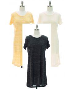 Crochet Back Hacci Midi Dress - Assorted
