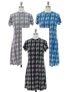 Half Collar Shift Midi Dress - Assorted