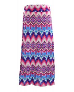 Fold over maxi skirt - Pink - LAST FINAL SALE