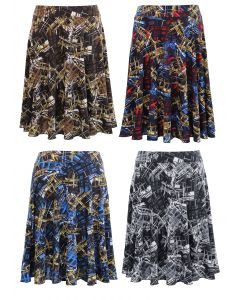 Plus. Obstract Print Skirt - Asst
