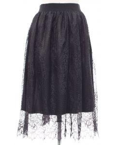 Lace Skirt - Black - LAST FINAL SALE