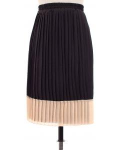 Chiffon Colorblock Skirt - Ivory