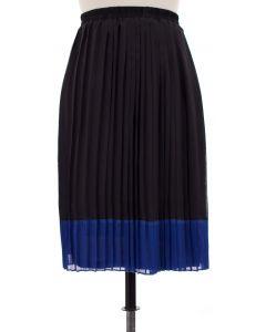 Chiffon Colorblock Skirt - Blue