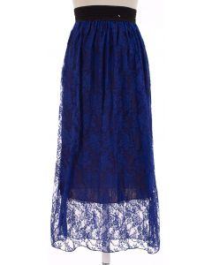 Maxi Lace Skirt - Royal Blue