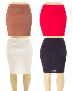 Plus. Embossed Pencil Skirt - 24 pcs