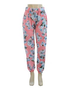 Floral Joggers - Pink