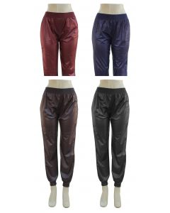 Faux Leather Joggers - 24 pcs