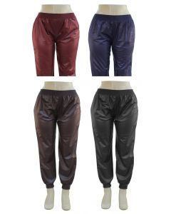 Plus. Faux Leather Joggers - Asst