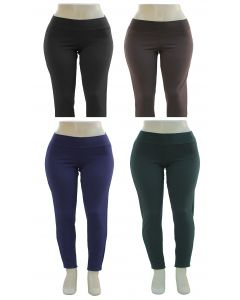 Plus. Ponte Knit Solid Leggings - Asst